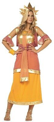 Hera Greek Goddess Costume (HERA GODDESS COSTUME Roman Egyptian Greek Athena GOT Halloween Cosplay)