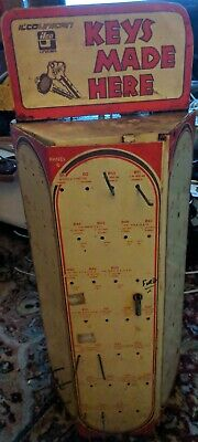Vintage Ilco Key Metal Store Display Rack Patina Unique Storage Cabinet Cool