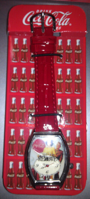 Collectible New in Box COCA COLA WATCH with TIN Mint Condition Never used