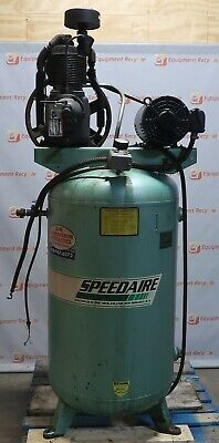 Speedaire Air Compressor 5hp 3ph 1824t Frame 1760 Rpm 80 Gallon Tank