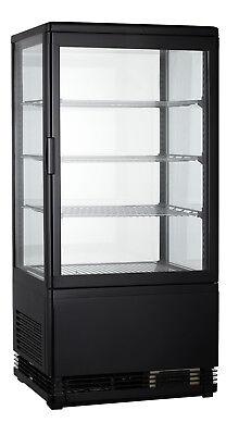 Mini-Kühlvitrine 72  Schwarz - Kalte Theke - Aufsatzkühlvitrine