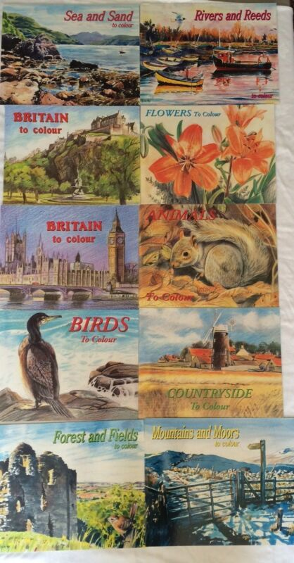 NEW+ONE+BOOK+PICTURES+TO+COLOUR+ADULT+COLOURING+IN.++ANIMALS+BIRDS+OR+COUNTRY