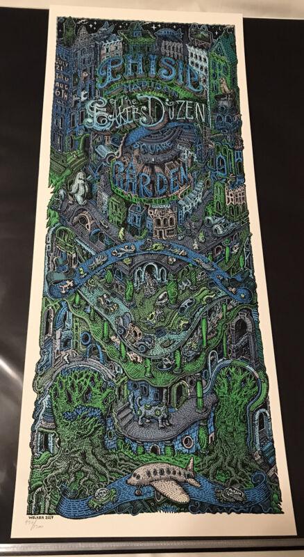 Phish Baker's Dozen David Welker Print #930/1300 Pollock MSG Hampton Beacon