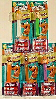 2020-Set of 5 PEZ  Dispensers-Scooby-Doo-Fred,Shaggy,Scooby Doo,Daphne,Velma