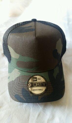 New Era 9FORTY Snapback Trucker Cap Blank Camouflage Army