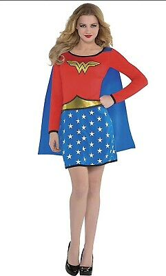 Adult Long-Sleeve Wonder Woman Dress Up To Size 8