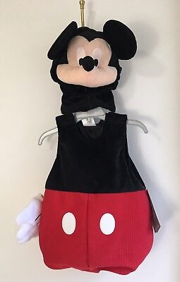 Disney Store Mickey Mouse Squeaky Nose Halloween Costume Size 12-18 Months NWT](Mickey Mouse Nose Costume)