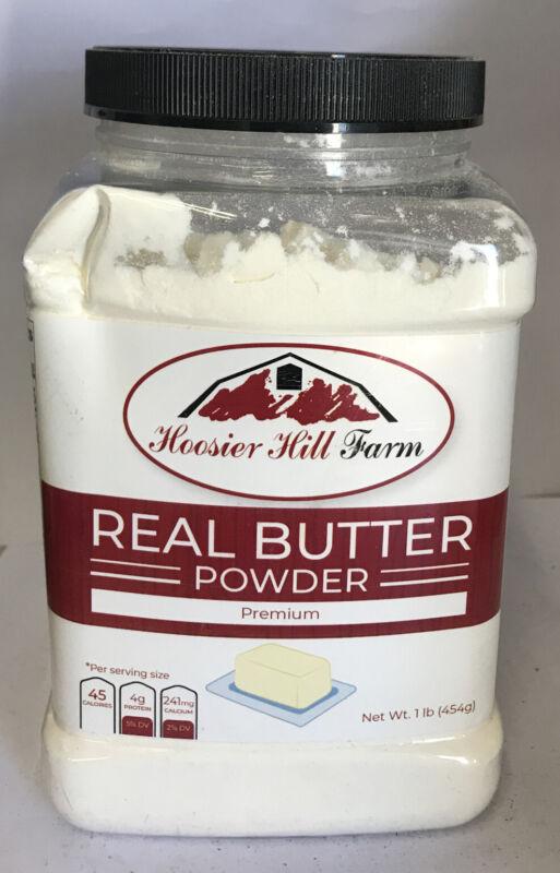 Hoosier Hill Farm Real Butter Powder, 1 lb NEW