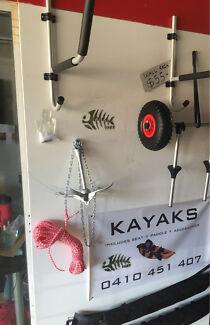Kayak accessories sale paddle seat trollie j racks leash from$15