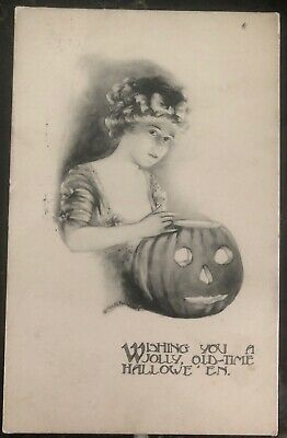 1912 Springfield OH Usa Picture Postcard PPC Cover Wishing You A Good - Halloween Well Wishes