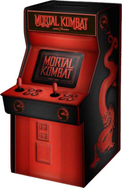 Mortal Kombat Classic Arcade Small Ceramic Coin Bank Gift Combat Klassic Game