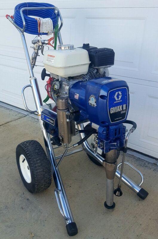 GRACO GMAX II 5900, GAS AIRLESS PAINT SPRAYER, 3900, 7900