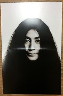 """YOKO ONO Unused 2-sided Promotional Poster for Reissue Albums Campaign 11""""x17"""""""