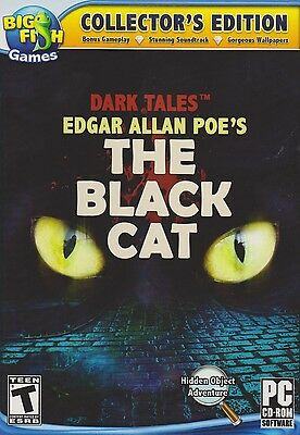 Computer Games - Dark Tales The Black Cat PC Games Windows 10 8 7 XP Computer hidden object seek