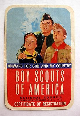 1956 Boy Scout Membership Card Troop 11 Oakland California