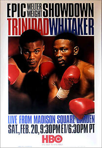 Felix Trinidad vs. Pernell Whitaker Original Vintage Boxing Fight Poster