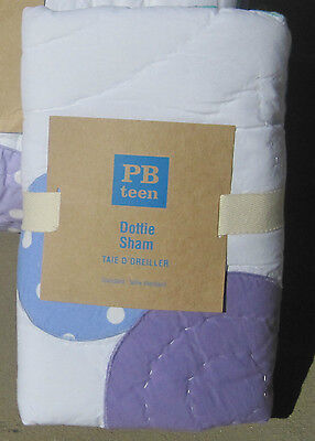 Pottery Barn Dottie Sham Bedding Pbteen Purple / Green / Blue Euro