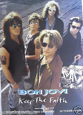 Bon Jovi  Keep The Faith  Australian Promo Poster Jon   Group Wearing Sunglasses
