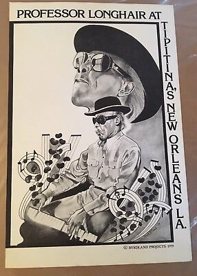RARE Professor Longhair At Tipitina's Poster 1979 New Orleans