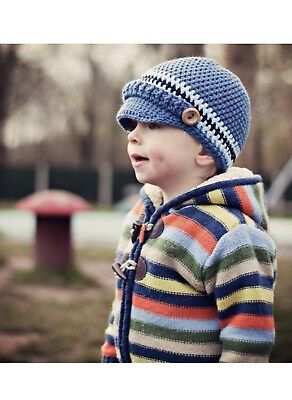 Original Crochet Pattern for Children's Newsboy Hat (0025) - Size: 3-12 Years](Newsboy Hats For Kids)
