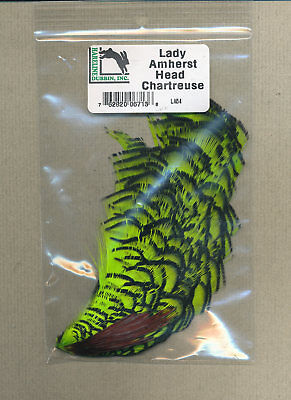 WOOD DUCK DRAKE PRIME WHITE GREEN PURPLE HEAD CREST 2PLUCKS A+FLY TYING FEATHERS
