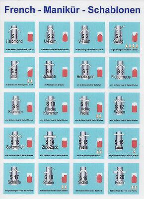 40 European French Manicure Schablonen Weltmeisterqualität Top Marke Auswahl