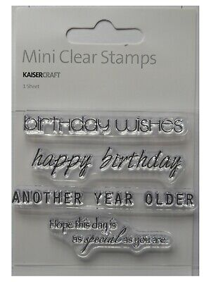 Kaisercraft Clear Stamps ASSORTED BIRTHDAY GREETINGS