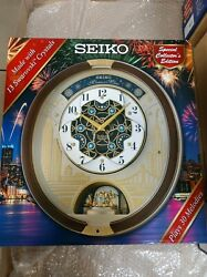Seiko Melodies in Motion Wall Clock W/ Swarovski Crystals QXM382BRH 2019 Model
