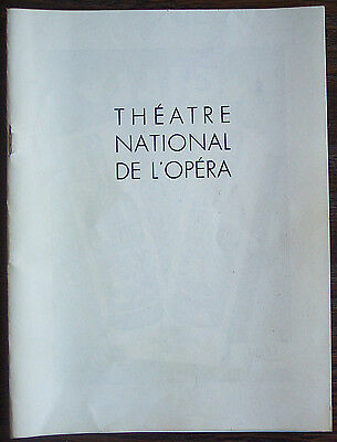 "Theatre National De L'Opera Program for ""Les Indes Galantes"" 1956/57"