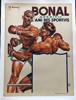 Original Vintage Poster Bonal Aperitif ca.1930 by Charles Lemmel
