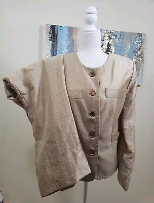 ALLYSON CARA Women 2PC Gorgeous Gold Pant Suit Size 14