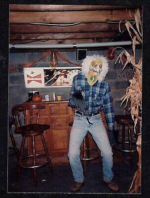 Old Halloween Costume Photos (Old Vintage Photograph Man Wearing Creepy Costume -)