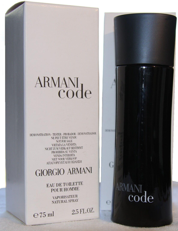 $31.89 - ARMANI CODE by GIORGIO ARMANI 2.5 EDT SPRAY (T) MEN COLOGNE 75 ML NEW TSTER BOX