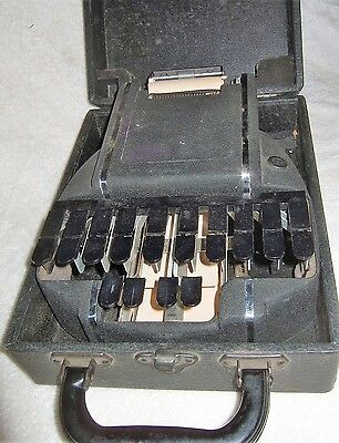 Antique Stenograph Stenotype Shorthand Machine Court Reporter In Original Case