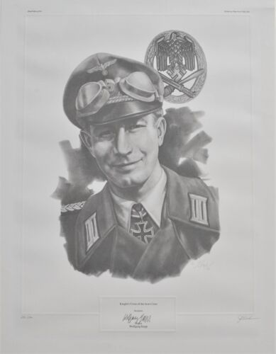 Major Wolfgang Kapp Limited Edition 290/500 Sketch Print Signed J.G. Keck
