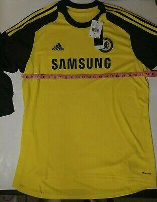 2013 Chelsea Football Club Goalkeeper Jersey Yellow/Black NWT Size XL image