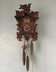 Vintage Schneider Musical Cuckoo Clock Black Forest 3 Weight Made in Germany