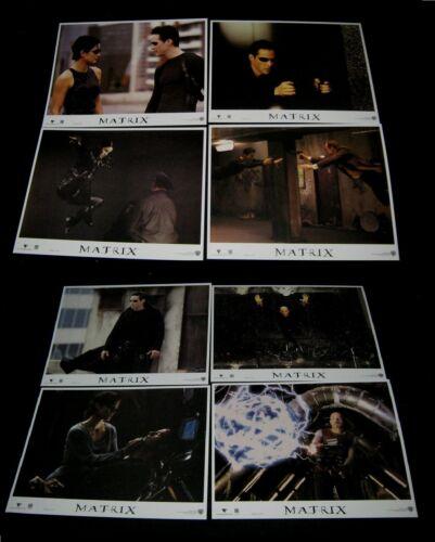 Original MATRIX 11x14 lobby card set near mint/mint Keanu Reeves