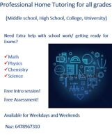 Tutor for Math,physics and chemistry