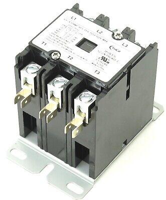 Yc-cn-pbc403-3 Definite Purpose Contactor 3-pole 40-amp 208240v Coil