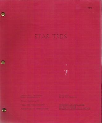 STAR TREK original television script ALL OUR YESTERDAYS