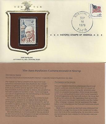 Historic Stamps of America SAM RAYBURN Commemorative Stamp