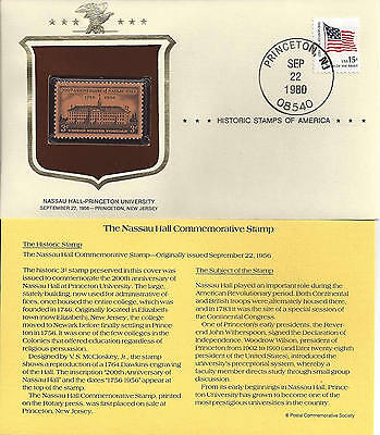 Historic Stamps of America NASSAU HALL Commemorative Stamp