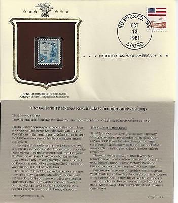 Historic Stamps of America GENERAL THADDEUS KOSCIUSZKO Commemorative Stamp
