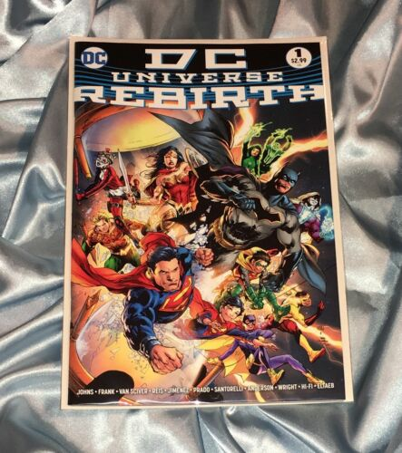 DC UNIVERSE REBIRTH SPECIAL #1~MIDNIGHT VARIANT~SUPERMAN DOOMSDAY CLOCK WATCHMEN