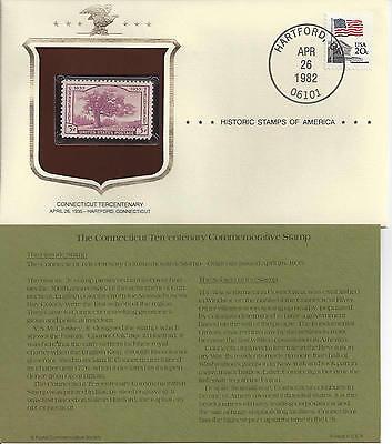 Historic Stamps of America CONNECTICUT TERCENTENARY Commemorative Stamp