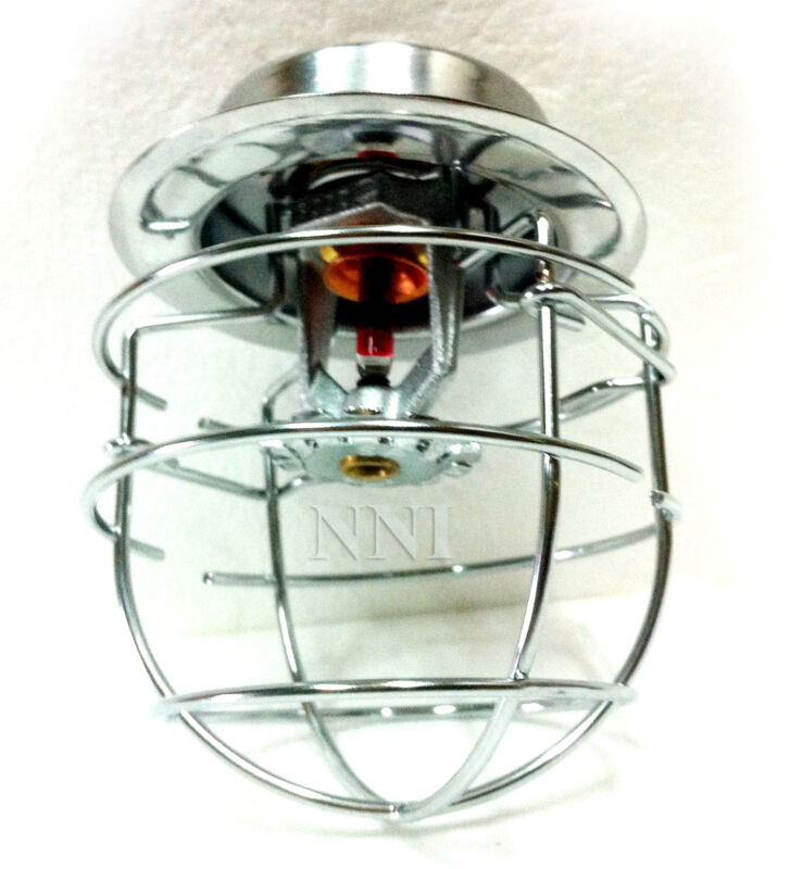 """NNI Recessed Fire Sprinkler Headguard Chrome Plated 1Pc 2 Hook 1/2"""" IPS"""