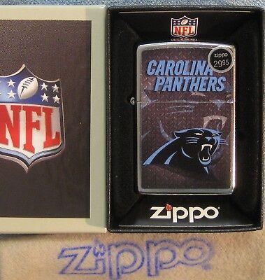 ZIPPO  NFL PANTHERS  Lighter CAROLINA Diamond Plate FOOTBALL  Mint in Box NEW ()