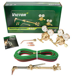 0384-0807+ Victor Journeyman 450 Torch Kit Set CA2460 315FC SR450D 20' 3/16 Hose