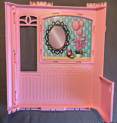 2015 Barbie Dream House Bathroom Back Wall Replacement Part CJR47